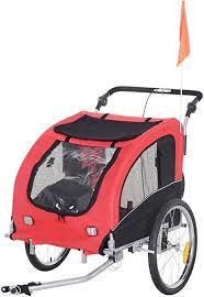 PawHut <b>2-in-1 Pet</b> Jogging Stroller Dog Cat Bike Bicycle Trailer ...