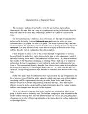 characteristics of an essay  personal narrative writing    expository essay examples  file characteristics