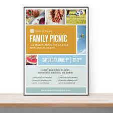photo collage grid flyer the flyer press a to flyer template psd that features a photo collage perfect for picnics