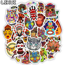 <b>50 PCS Totem Animal</b> Sticker Graffiti Ethnic Tribal Tattoo Stickers to ...