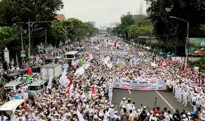 Image result for demo anti ahok