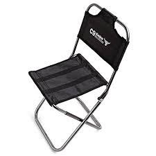 EVIICC <b>Portable Folding Camping</b> Chair <b>Foldable</b> Stool Black Small ...