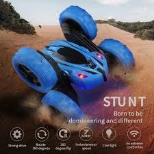 RC Stunt Car Toy Electric <b>Double Sided 360 Rotate</b> Remote Control ...