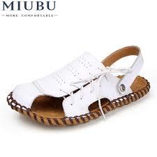 <b>MIUBU Mens</b> Sandals <b>Genuine Leather</b> Summer 2019 New Beach ...