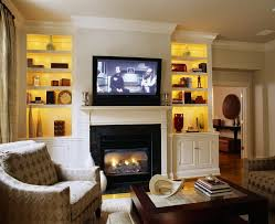 bookcase lighting ideas living room traditional with fireplace mantel crown molding glass coffee table bookcase lighting ideas