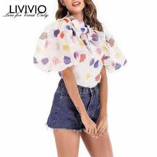 [LIVIVIO] <b>Off Shoulder</b> Top <b>Shirt</b> Women Clothes 2019 <b>Summer</b> ...