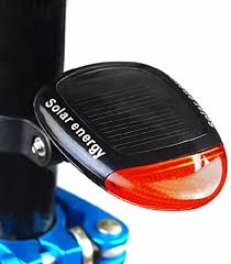 Solar <b>Bike</b> Tail <b>Light</b> 2 <b>LED</b> 3 Mode Super Bright <b>Solar Power</b> ...