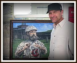 artists tribute to italian american baseball mlbblogger renowned artist chris felix will be at conivivio on saturday 4th