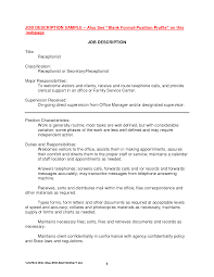 best photos of receptionist job description sample receptionist receptionist job description