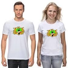 """<b>Парные футболки</b> c авторскими принтами """"коты"""" - <b>Printio</b>"""