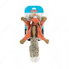 <b>Игрушка для собак Zolux</b> белка-летяга, 38 см, оранжевая ...