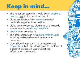 community needs assessment    the needs assessment