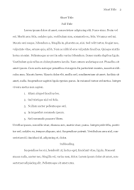 mla format college essay
