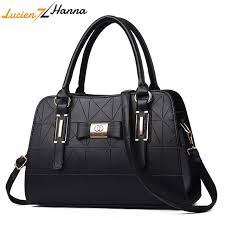 <b>Hot Sale Fashion</b> Women Leather Handbag Inclined Female Bow ...
