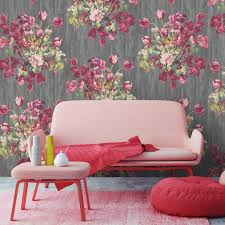 zones bedroom wallpaper: floral watercolour wallpaper by woodchip and magnolia furnishings amp fittings