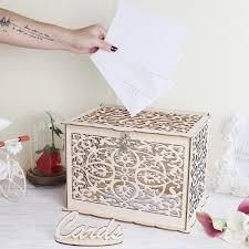<b>OurWarm</b> Elegant <b>Wedding</b> Card Box <b>Wedding</b> Money Box <b>Wooden</b> ...