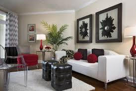 beautiful design of the modern brown couch living room that has red and black cushion can add the beauty inside the modern house design ideas that seems beautiful brown living room