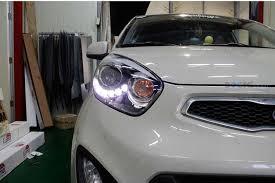 Передняя тюнинг-<b>оптика светодиодная Mobis LED</b> на Kia Picanto 2
