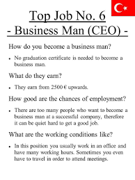 the top jobs in five different ppt top job no 6 business man ceo