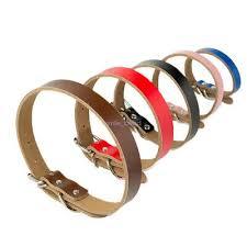 Leather Flat <b>Dog Collar</b> Adjustable <b>Cowhide</b> Collars for <b>Pet</b> Soft ...