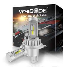 VehiCode <b>H4</b> 9003 <b>HB2</b> (Hi/Lo Beam) Slim LED Headlight Bulbs ...