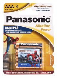 ≡ <b>Батарейка Panasonic</b> Alkaline Power <b>AAA</b> BLI 4 Sticker Spider ...