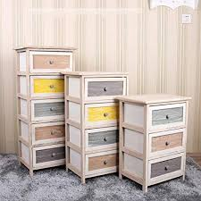 Carriemeow Storage Cabinet <b>Wooden</b> Drawer <b>Bedside Cabinet</b> ...