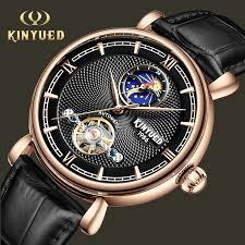 <b>KINYUED</b> Luxury Brand <b>Tourbillon</b> Automatic Skeleton Watch <b>Men</b> ...
