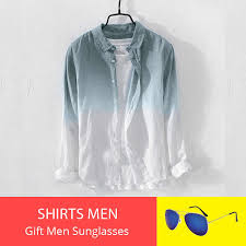Shirts for Men Summer Cool Thin Breathable Lapel Collar <b>Hanging</b> ...