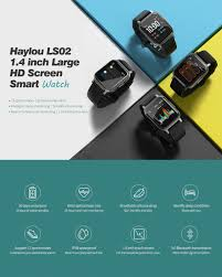 €19 with coupon for <b>Haylou LS02 1.4inch</b> Ture Color Large Screen ...