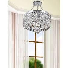 nerisa 4 light chrome semi flush mount crystal chandelier chandeliers and pendant lighting