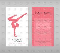 yoga studio flyer template vector image 79597 rfclipart yoga studio flyer template click to zoom