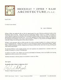 letter of reference william collins archinect letter of reference