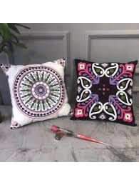 Famitile 100% <b>Cotton</b> Bohemian Style 16-inch Throw <b>Pillows</b> ...
