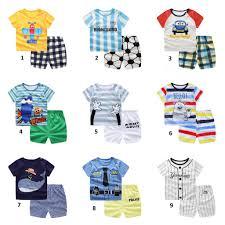 <b>Baby Kids Toddler Korean</b> Terno T Shirt+Short For Boys <b>Set</b> ₱199