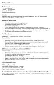 phlebotomy resume templates phlebotomy resume
