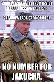 Shout at sexy girl from inside of cool Russian Lada car. She know ... via Relatably.com