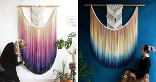 Dip-Dyed Macrame Wall Hangings Add a <b>Modern Pop</b> of Color to ...