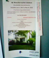 indepedent vs quinnipiac owned housing hamden house hunting a flyer advertising a house for rent on whitney