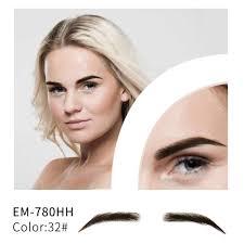 neitsi mans one pair handtied lace base fake eyebrows 100 human hair m1001