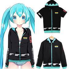 <b>Hatsune</b> Miku Vocaloid <b>Hoodies Sweatshirt</b> Animation Cosplay ...