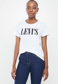 The perfect tee 90's serif <b>t3</b> + <b>graphic</b> - white <b>Levi's</b>® T-Shirts, Vests ...