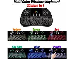 <b>I86 7 Colorful Backlit</b> Wireless Keyboard Fly Air Mouse Keyboard ...