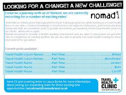 careers nomad travel nurse job advert