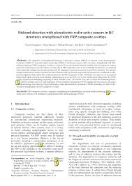 (PDF) Disbond detection with piezoelectriz wafer active sensors in ...