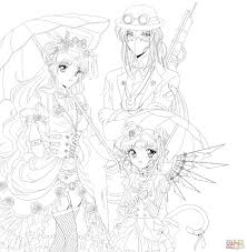 Small Picture Steampunk Sailor Moon coloring page Free Printable Coloring Pages