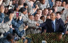 u s department of defense photo essay u s president barack obama shakes hands a ier after speaking to service members and their