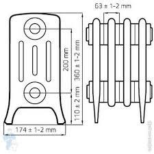 <b>Радиатор</b> чугунный <b>Retro Style DERBY М</b> 4/200 (360x378х174) 6 ...