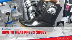 How to <b>Heat Press Shoes</b> - YouTube