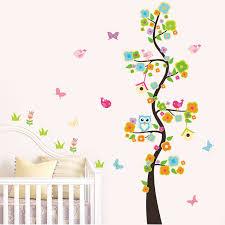 <b>owl birds flower</b> butterfly <b>tree</b> removable wall stickers poster kids ...